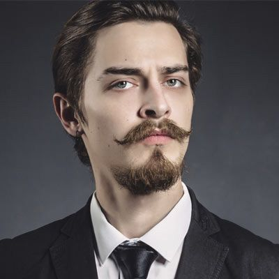 french mustache and goatee